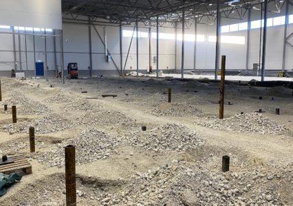 Laohoone põrandavaiade paigaldus