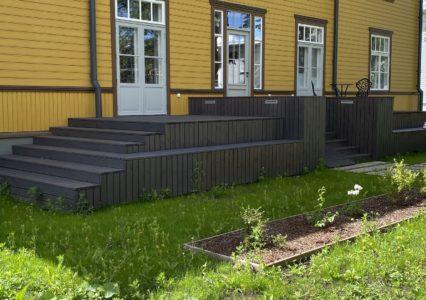 Terrassi ehitamine kruvivaiadele